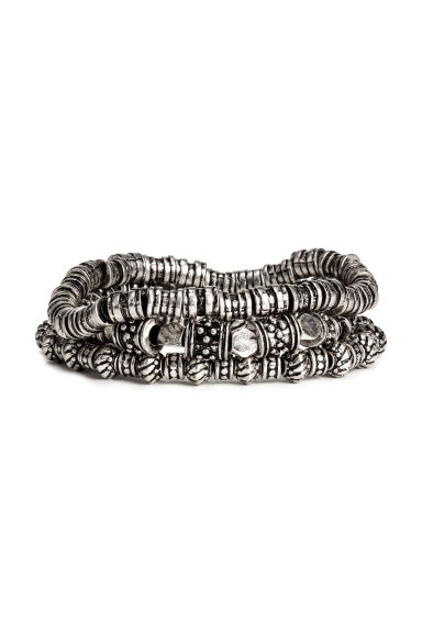 3-pack elasticated bracelets - Silver -  | H&M