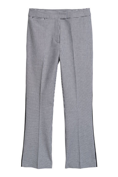 Tailored trousers - White/Checked - Ladies | H&M IE
