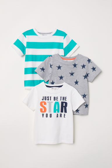 3-pack T-shirts - Grey marl - Kids | H&M