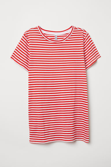 T-shirt - Red/Striped -  | H&M