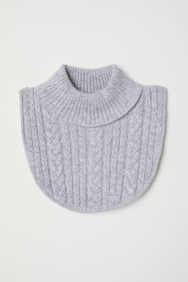 Cable-knit polo-neck collar - Light grey - Kids | H&M