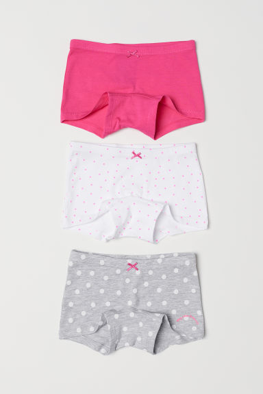 3-pack boxer briefs - Pink/Spotted - Kids | H&M CN