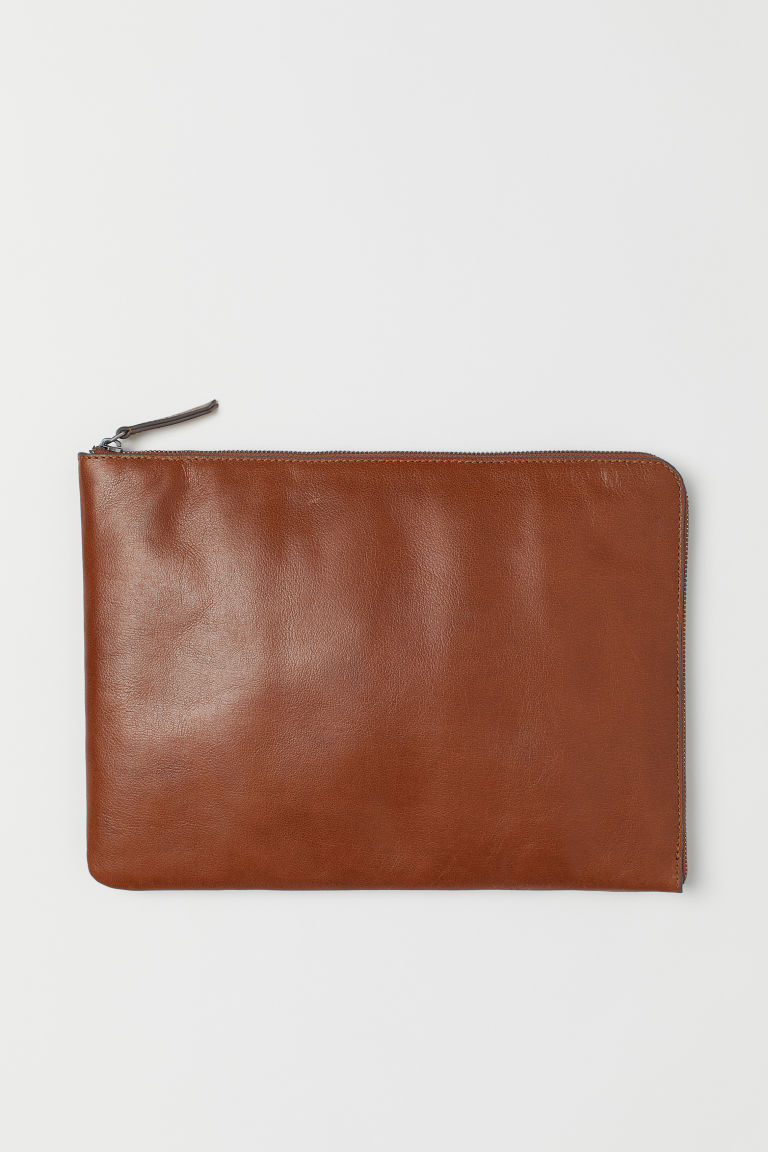 Laptop-Etui aus Leder - Braun - Men | H&M AT