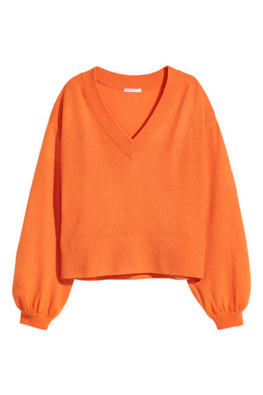 Cashmere jumper - Orange - Ladies | H&M