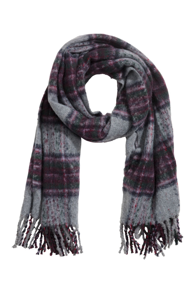Woven scarf - Grey/Purple - Ladies | H&M CN