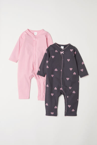 2-pack all-in-one pyjamas - Dark grey - Kids | H&M