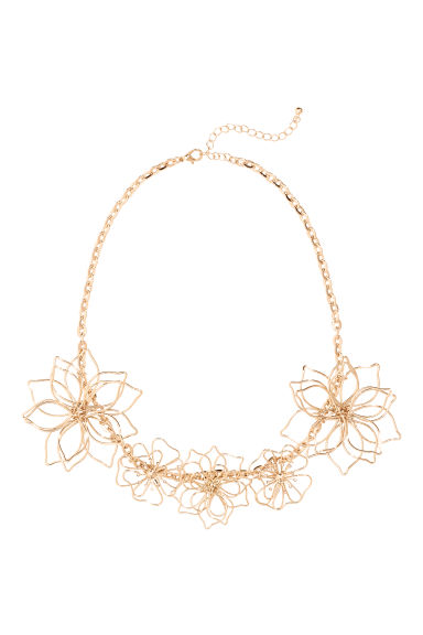 Necklace - Gold-coloured - Ladies | H&M CN