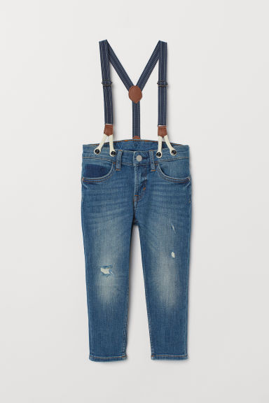 Jeans with braces - Denim blue - Kids | H&M GB