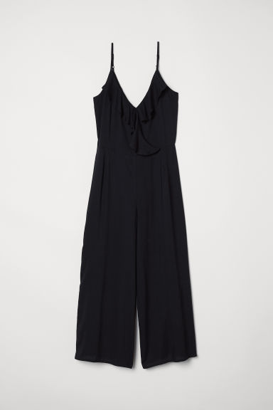 Ankle-length jumpsuit - Black - Ladies | H&M CN