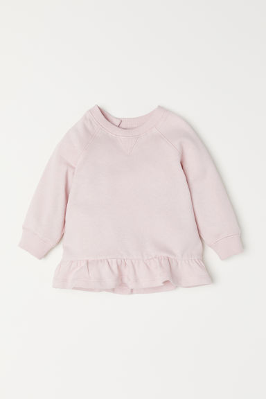 Sweater met volant - Lichtroze -  | H&M BE