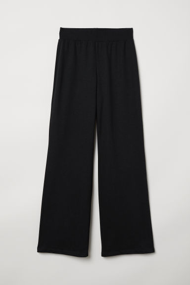 Straight-cut sweatpants - Black - Ladies | H&M
