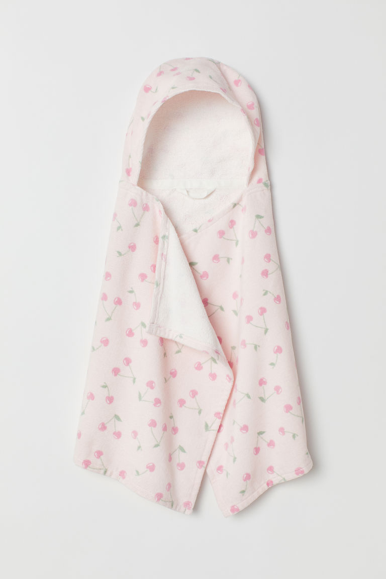 Hooded towel - Light pink/Cherries - Kids | H&M