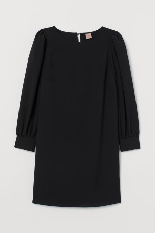 H&M+ Puff-sleeved dress