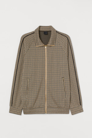 Jacquard-knit jacket