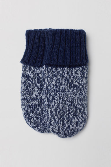 Fleece-lined mittens - Dark blue - Kids | H&M