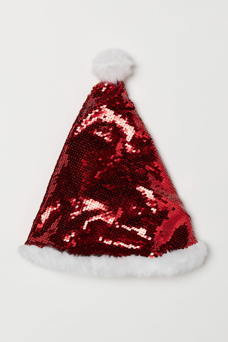Santa hat with sequins - Red - Kids | H&M CN