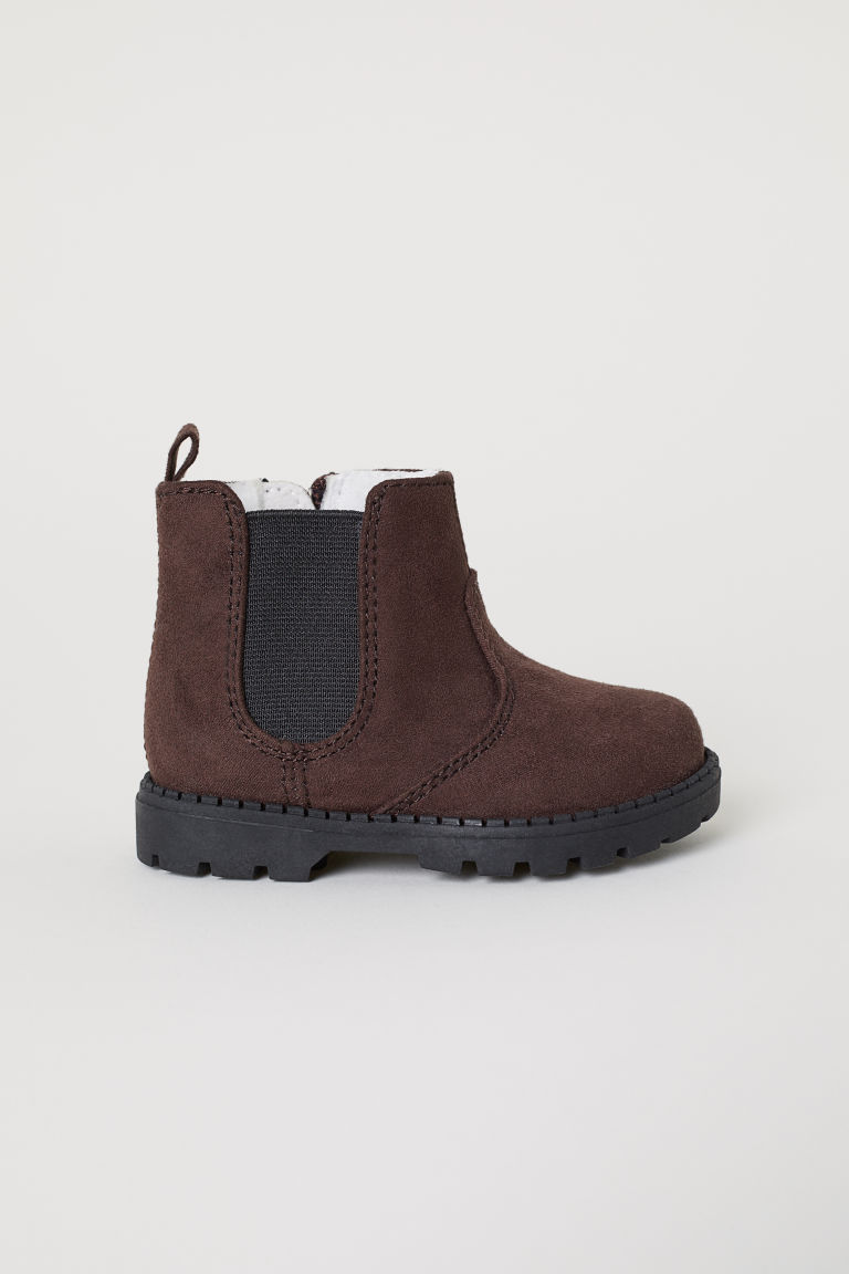 Warm-lined boots - Dark brown - Kids | H&M