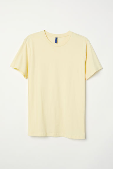T-shirt - Lichtgeel - HEREN | H&M BE