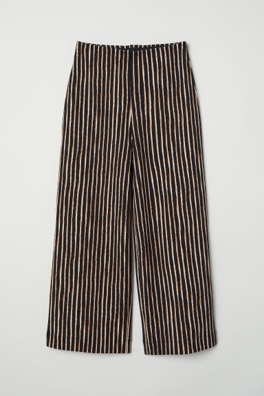 Jersey culottes - Black/Striped - Ladies | H&M IE
