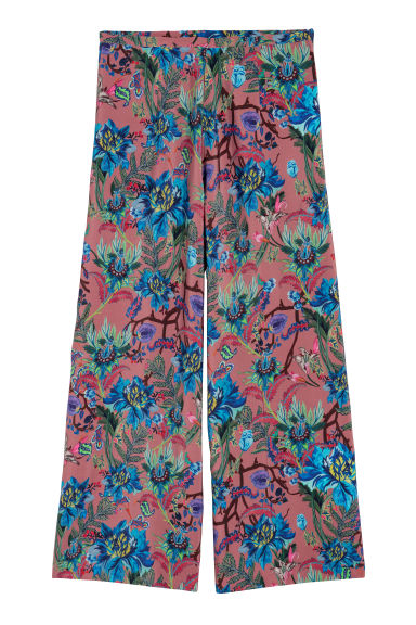 Wide trousers - Mole/Patterned - Ladies | H&M CN