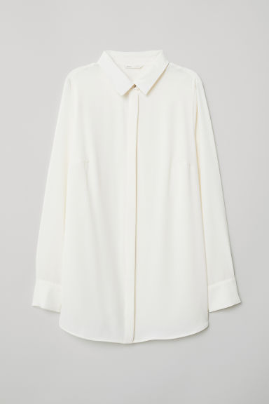 MAMA Long-sleeved blouse - White - Ladies | H&M CN