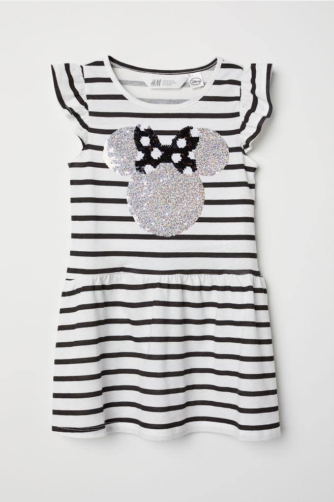 Vestido con lentejuelas - Blanco/Minnie Mouse - NIÑOS | H&M ES