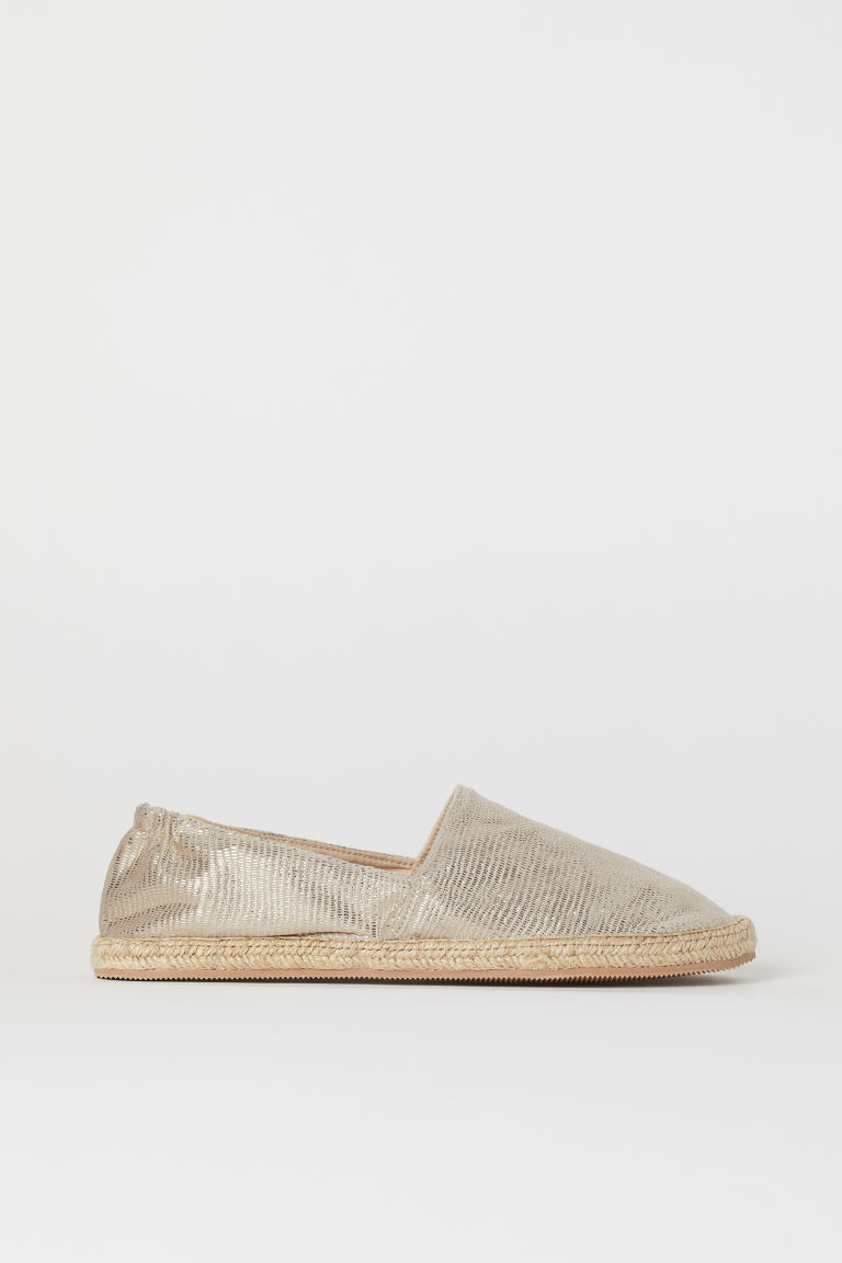 Espadrilles - Gold-coloured/Snakeskin print - Ladies | H&M CN