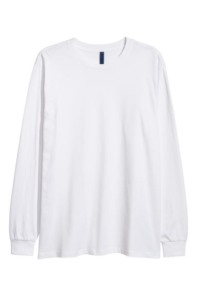 Long-sleeved top - White - Men | H&M