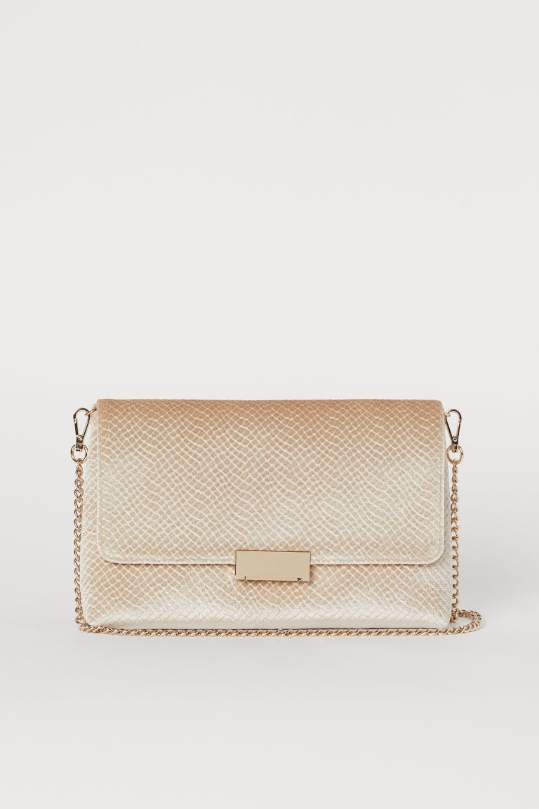Bolso clutch de velour - Beige claro - Ladies | H&M US