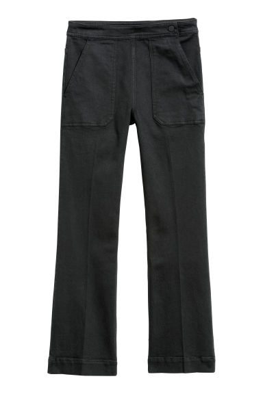 Pantaloni in twill - Nero - DONNA | H&M IT