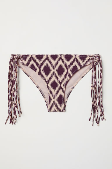 Cheeky bikini bottoms - Dark purple/Patterned - Ladies | H&M CN