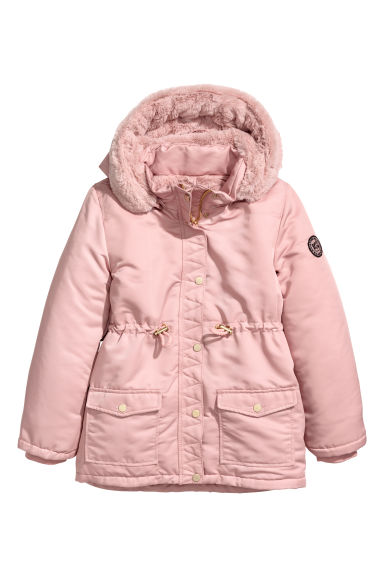 Parka with a hood - Pink -  | H&M GB