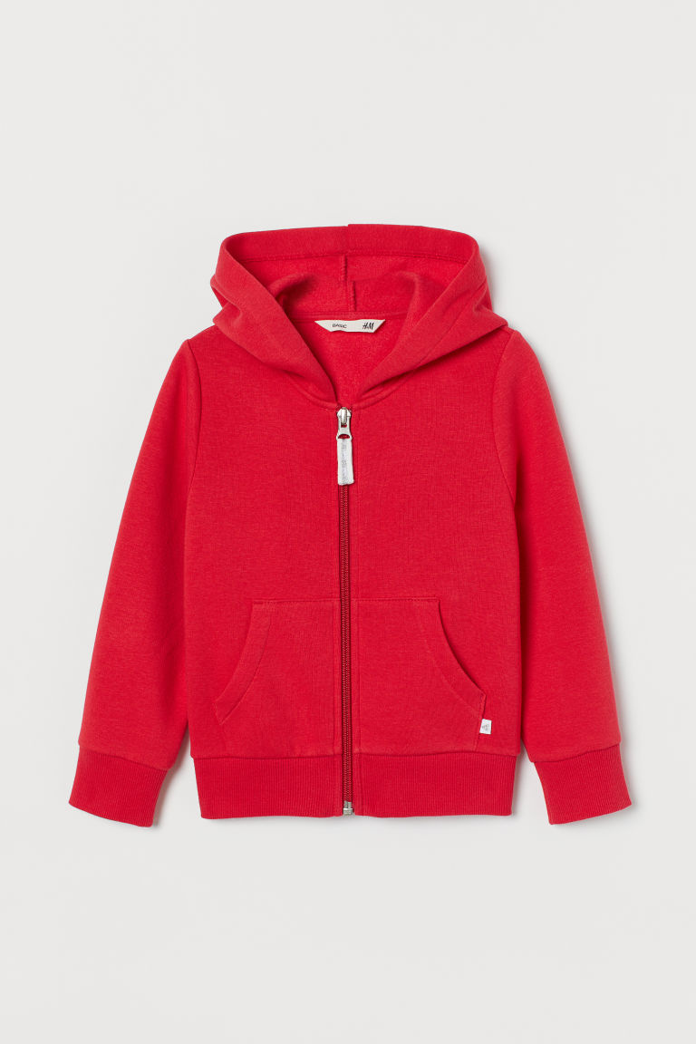 Hooded jacket - Red - Kids | H&M IN