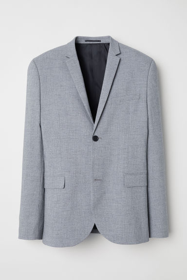 Jacket Skinny fit - Light grey marl -  | H&M