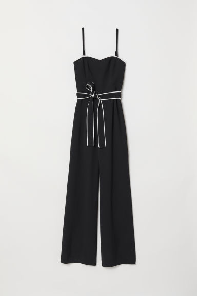 Jumpsuit - Black - Ladies | H&M CN