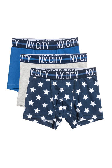 3-pack boxer shorts - 蓝色 -  | H&M CN