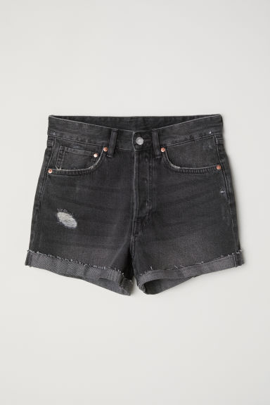 Short en jean Mom fit - Denim gris foncé -  | H&M FR