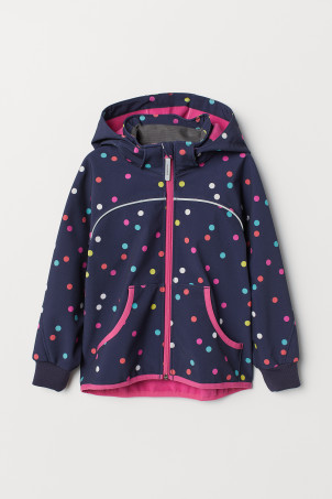 Water-repellent shell jacket