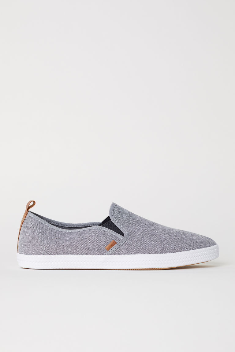 Slip-on trainers - Grey marl - Men | H&M CN