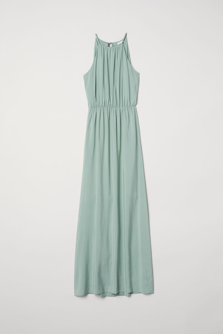 Long dress - Dusky green - Ladies | H&M