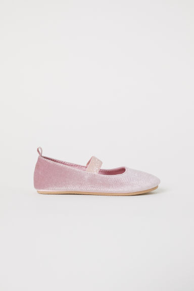 Velvet ballet pumps - Light pink - Kids | H&M