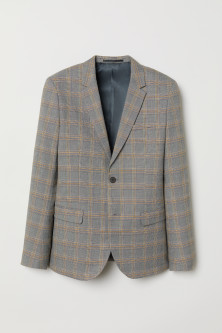 Checked jacket Skinny Fit