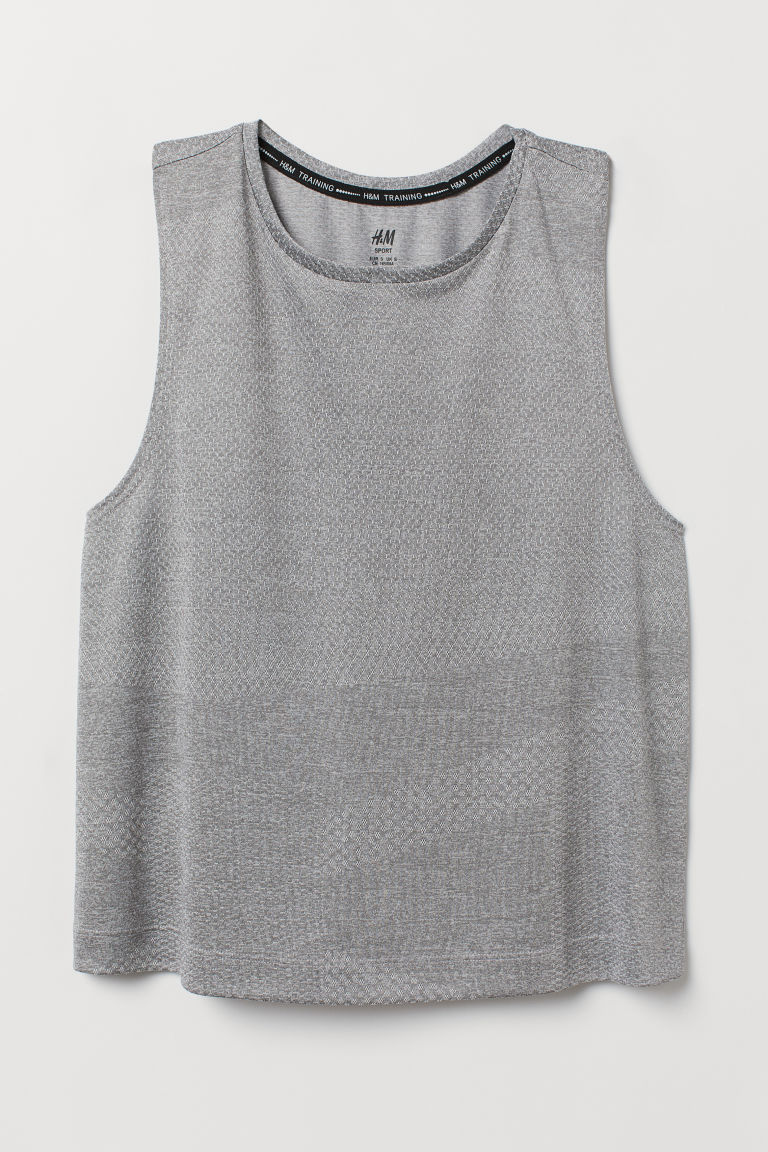 Sports vest top - Grey marl - Ladies | H&M CN