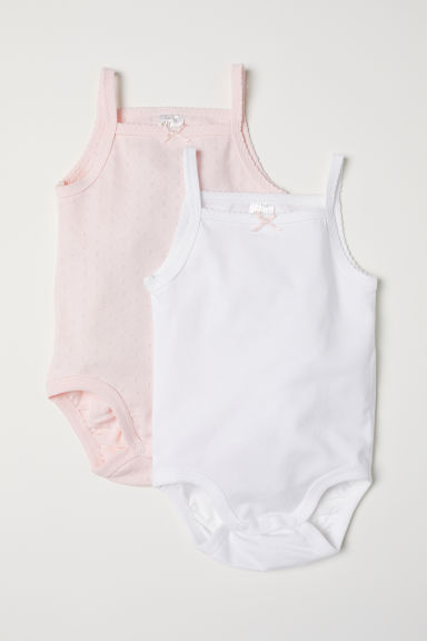2-pack bodysuits - Light pink/White - Kids | H&M