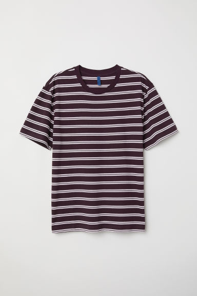 Striped T-shirt - Burgundy/Striped - Men | H&M