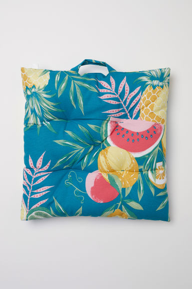 Patterned Seat Cushion - Turquoise/fruit - Home All | H&M CA
