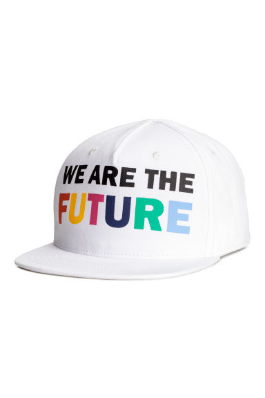 Printed cap - White - Kids | H&M
