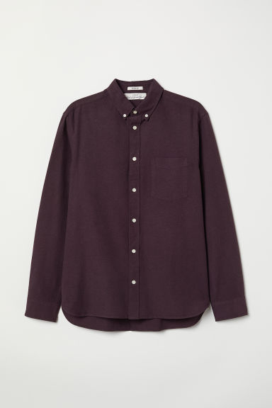 Oxford shirt Regular Fit - Dark purple - Men | H&M CN