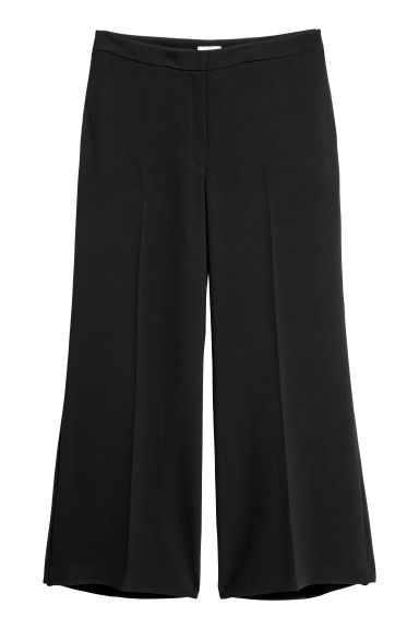 H&M+ Wide trousers - Black -  | H&M