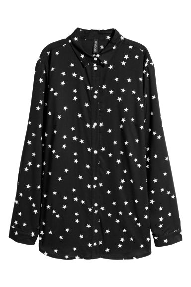 Viscose shirt - Black/Stars -  | H&M